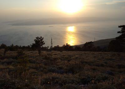 Croazia Quaglie veduta tramonto