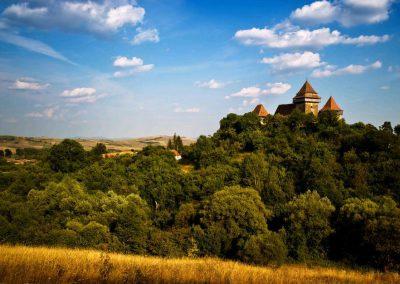 Romania Paesaggio a Viscri in Transilvania